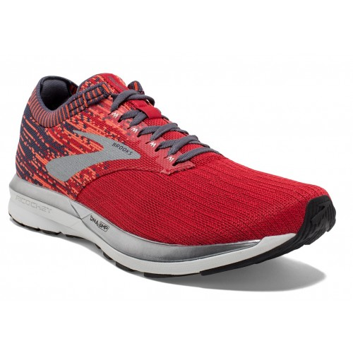 BROOKS Ricochet Rouge/Orange/Gris