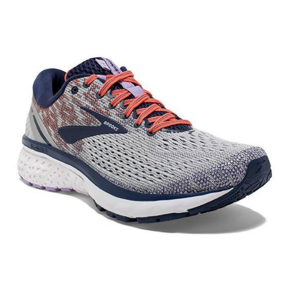 BROOKS Ghost 11 W Gris/Bleu/Coral