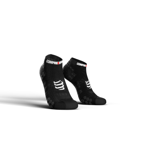 COMPRESSPORT chaussettes Racing Low Noir