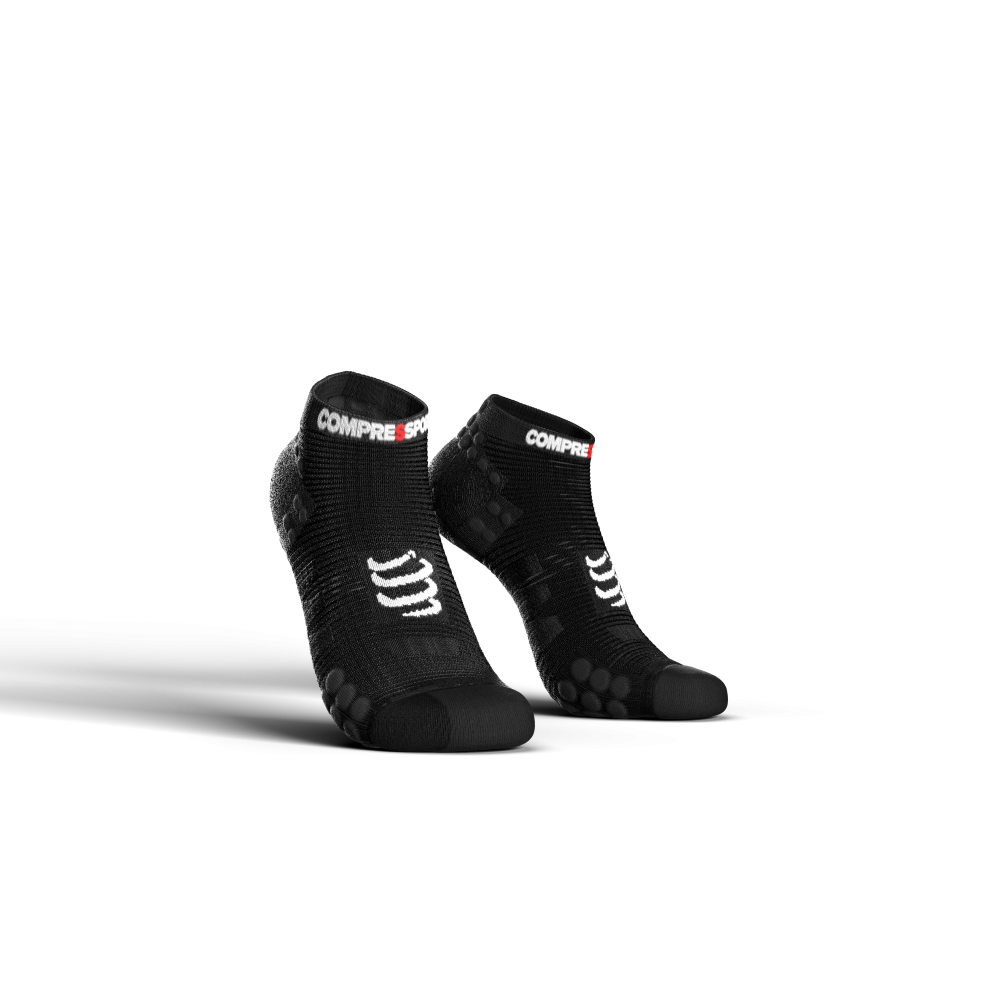 COMPRESSPORT chaussette Racing Low Noir