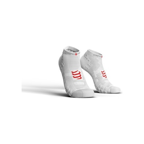 COMPRESSPORT Chaussette Blanche Low