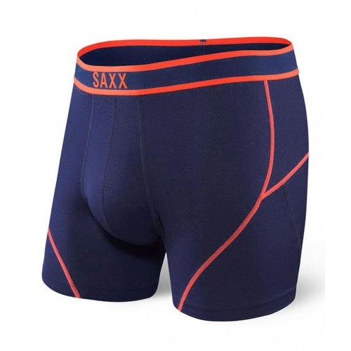 SAXX Kinetic Boxer Bleu Foncé/Orange