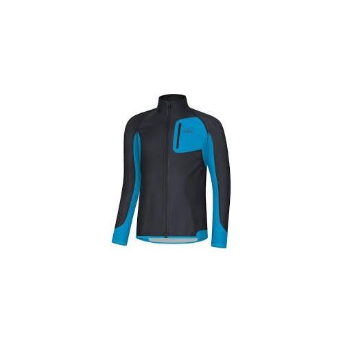 GORE R3 Partial Windstopper maillot noir bleu