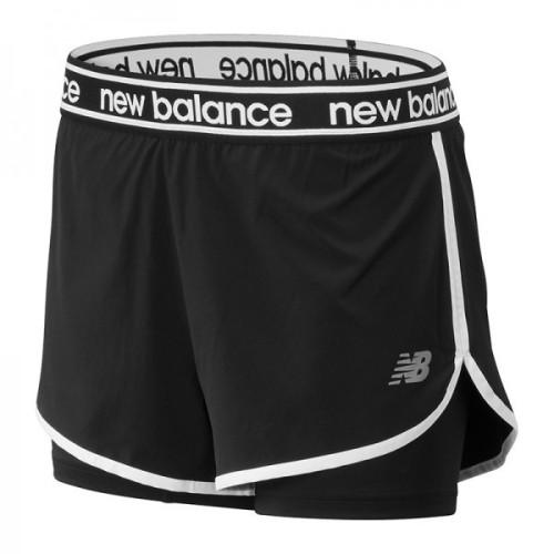 NEW BALANCE Short 2 en 1 W Noir