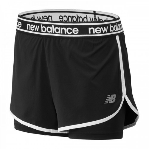 NEW BALANCE Short 2 en 1 W Noir