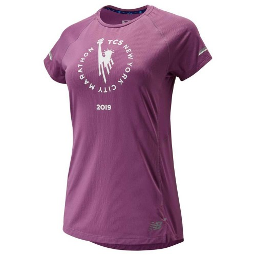 NEW BALANCE Tee shirt W Marathon de New York 2019 Violet