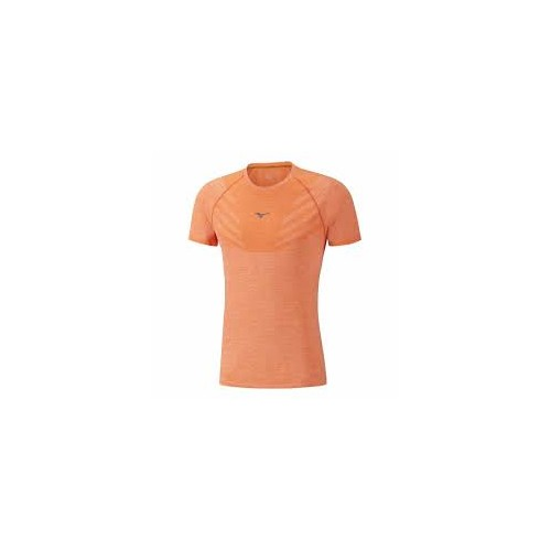 Mizuno Tubular Helix Tee Shirt Orange XL