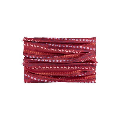 CRAFT Tour de Cou Couleur Rouge Motif Hiver