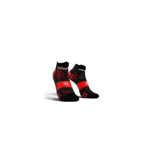 COMPRESSPORT Chaussettes Ultra Light noir rouge
