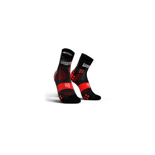 COMPRESSPORT chaussettes Ultra Light Run High noir rouge
