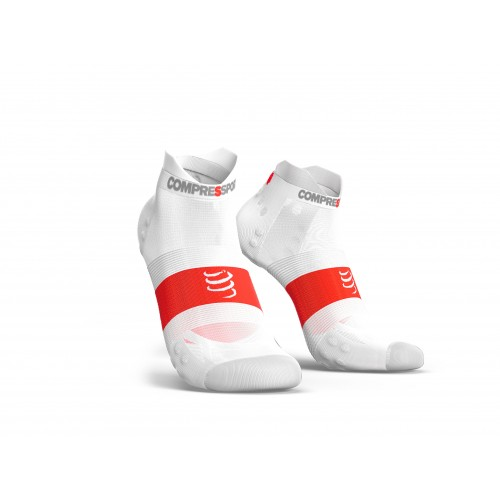 COMPRESSPORT Chaussettes Ultra Light Run Low Blanche