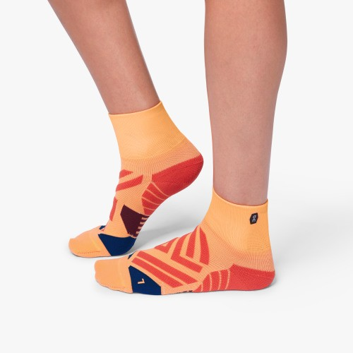 ON Mid Sock W Coral Navy