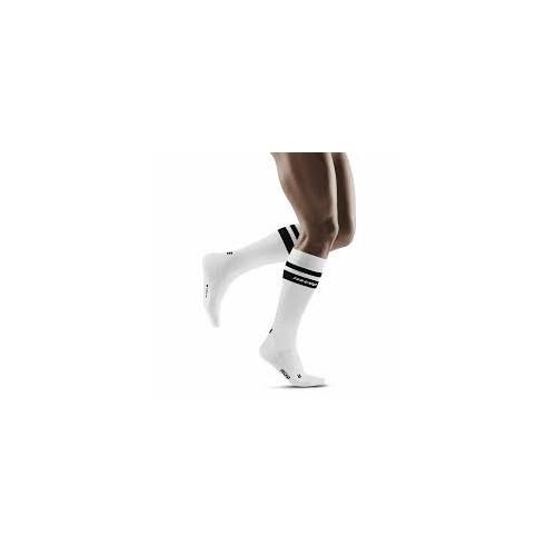 CEP 80's Compression Socks White/Black
