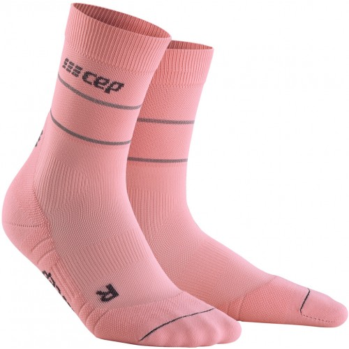 CEP Reflective Compression Mid Cut Socks Rose W