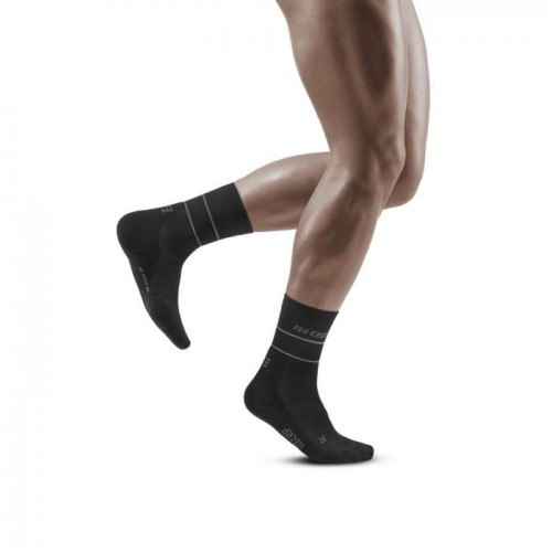 CËP Reflective Compression Mid cut Socks Black