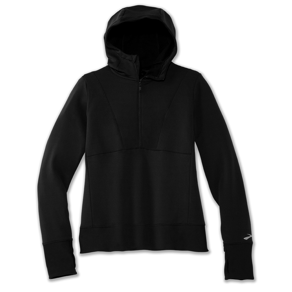 BROOKS Notch Thermal Hoodie W Black