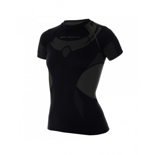 BRUBECK Tee-Shirt Thermique Dry Noir W