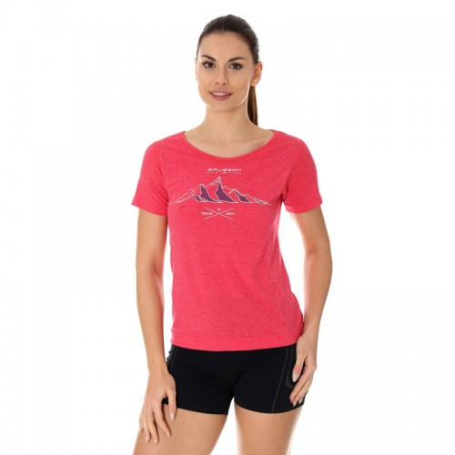 BRUBECK Tee Shirt Thermique Rose W