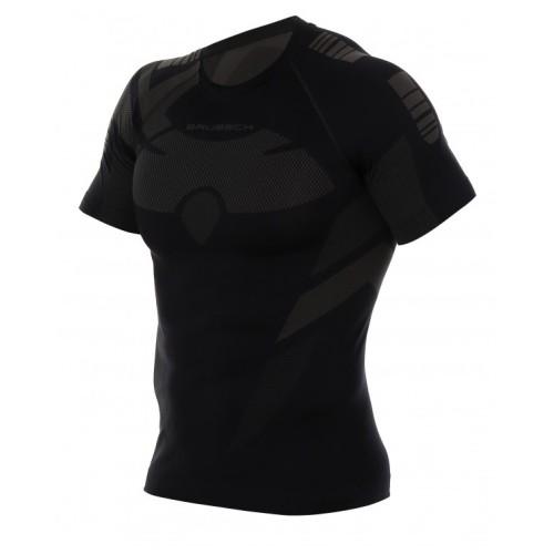 BRUBECK Tee-Shirt Manches Courtes Dry Noir
