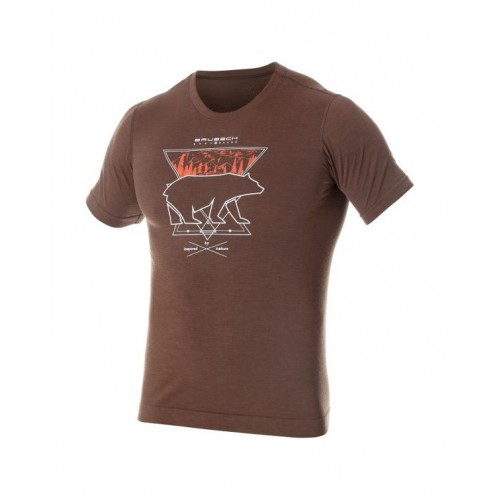 BRUBECK T-Shirt Thermique Homme OUTDOOR WOOL OURS