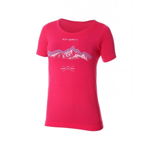 BRUBECK T-Shirt Thermique Femme OUTDOOR WOOL Red