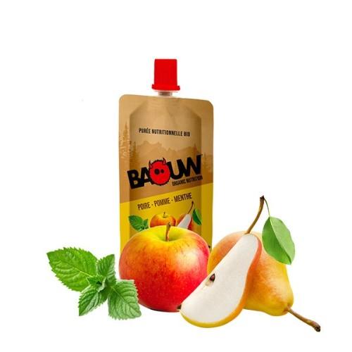 BAOUW Purée Et Compote Énergétique BIO Poire - Pomme - Menthe