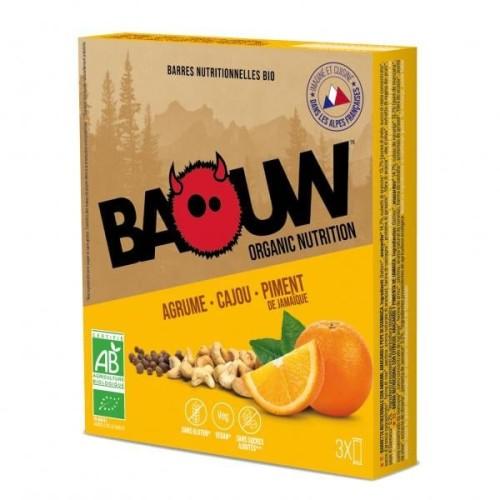 BAOUW Barres Énergétiques (Pack x3) BIO Agrume - Cajou - Piment de jamaique