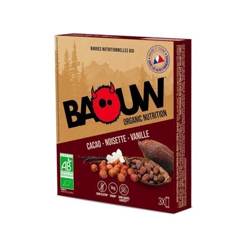 BAOUW Barres Énergétiques (Pack x3) BIO Cacao - Noisette - Vanille