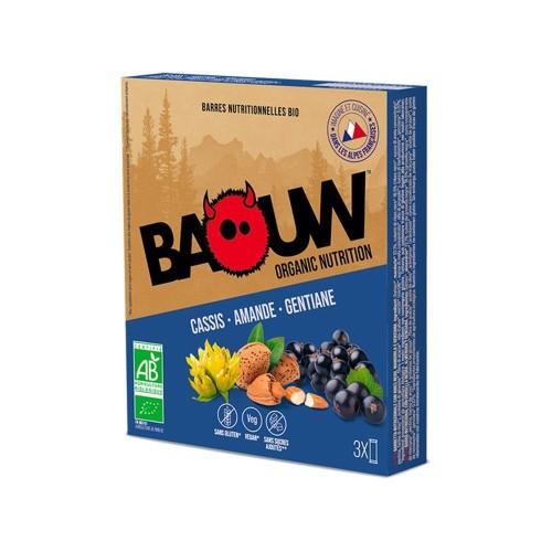 BAOUW Barres Énergétiques (Pack x3) BIO Cassis- Amande - Gentiane