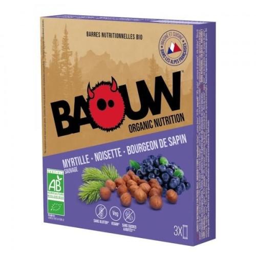 BAOUW Barres Énergétiques (Pack x3) BIO Myrtille - Noisette - Bourgeon de sapin