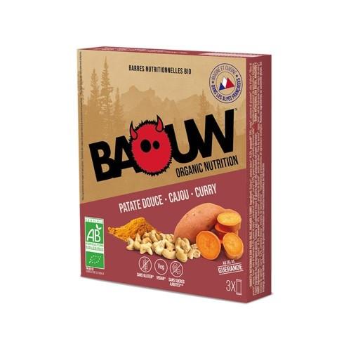 BAOUW Barres Énergétiques (Pack x3) BIO Patate douce - Cajou - Curry