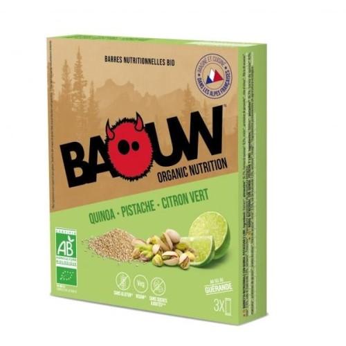 BAOUW Barres Énergétiques (Pack x3) BIO Quinoa - Pistache - Citron