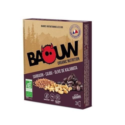 BAOUW Barres Énergétiques (Pack x3) BIO Sarasin - Cajou- Olive de Kalamata