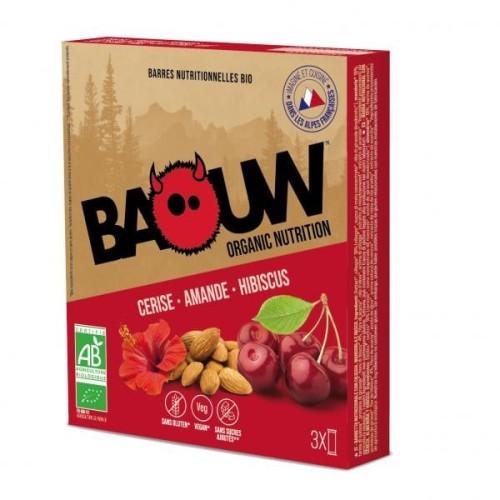 BAOUW Barres Énergétiques (Pack x3) BIO Cerise - Amande - Hibiscus